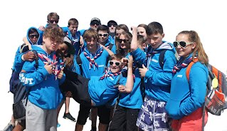scouts enjoying their time abroad