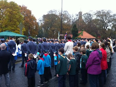 District members at Remembrance Day