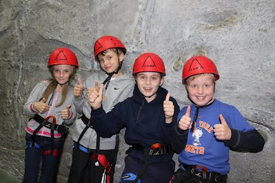 Cubs enjoy climbing activity as part of their Adventure Challenge