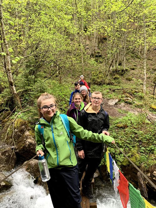 Scouts bridge mountain walk