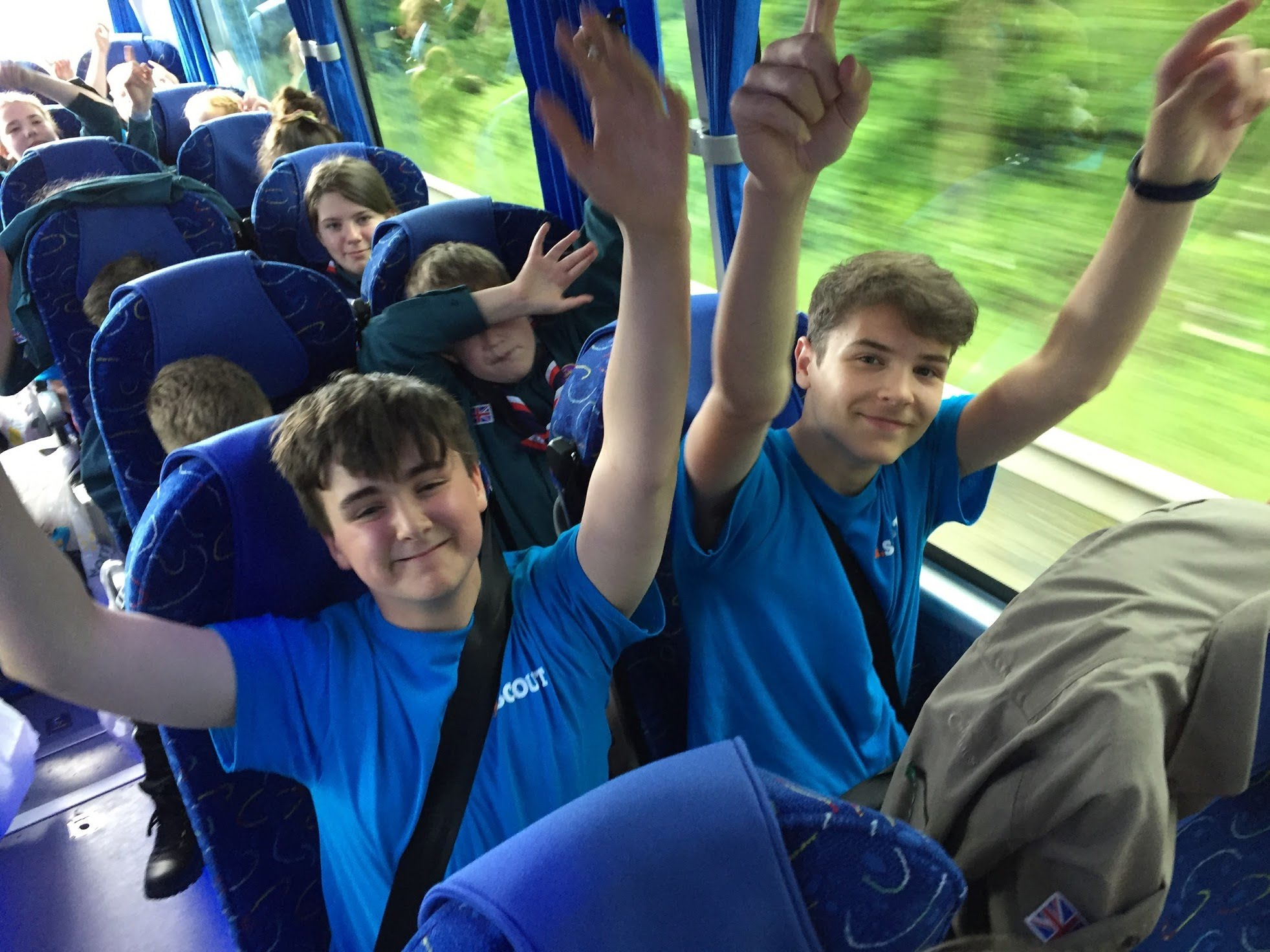 scouts on board the coach