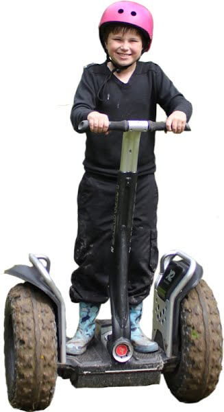 Scout enjoy a segway adventure
